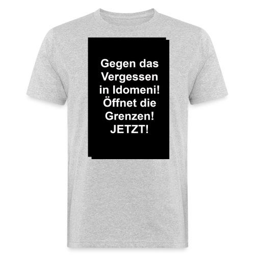 Gegen das Vergessen - Männer Bio-T-Shirt