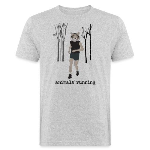 Tigre gris running - T-shirt bio Homme