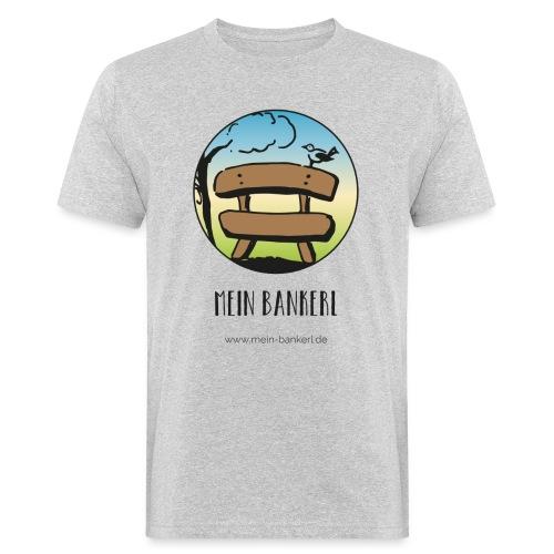 Mein Bankerl, rund - Männer Bio-T-Shirt