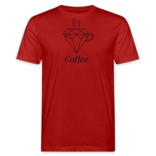 Coffee Diamant - Männer Bio-T-Shirt