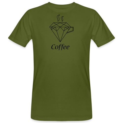 Coffee Diamant - Männer Bio-T-Shirt