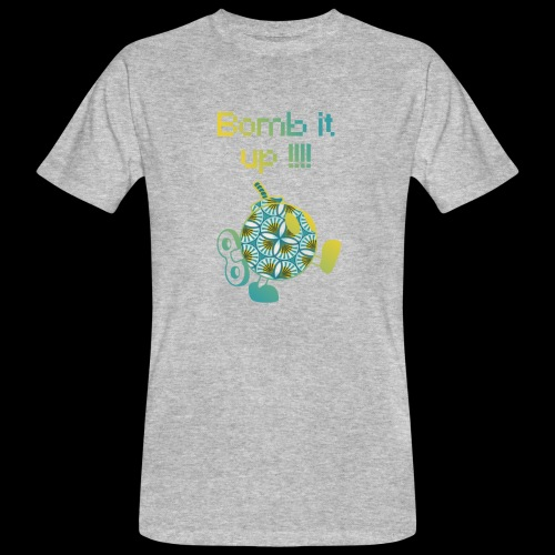 Bomb It Up : Yellow Power !!! - T-shirt bio Homme