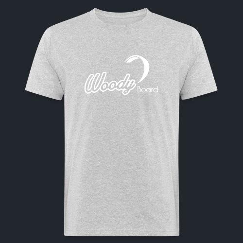 Logo Woodyboard Blanc - T-shirt bio Homme