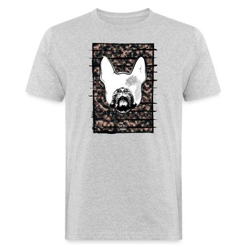 Französische Bulldogge Camouflage Silhouette - Männer Bio-T-Shirt
