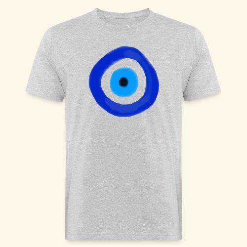 Blue evil eye Water Colour - Ekologisk T-shirt herr