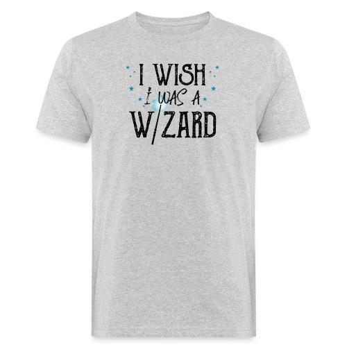 I Wish I Was A Wizard - Black - Men's Organic T-Shirt