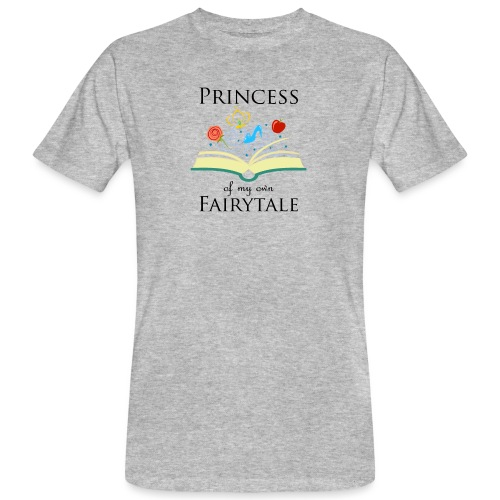 Princess of my own fairytale - Black - Men's Organic T-Shirt