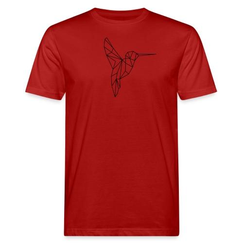 Vogel Kolibri Geometrisch - Männer Bio-T-Shirt