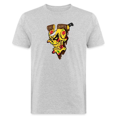 Pizza Schädel mit Messer - Männer Bio-T-Shirt