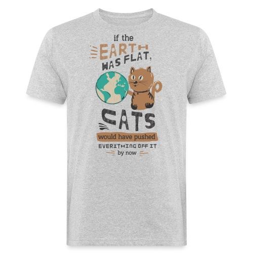 IF THE EARTH WAS FLAT - Økologisk T-skjorte for menn