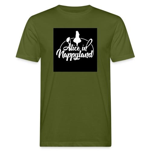 Alice in Nappyland TypographyWhite 1080 - Men's Organic T-Shirt