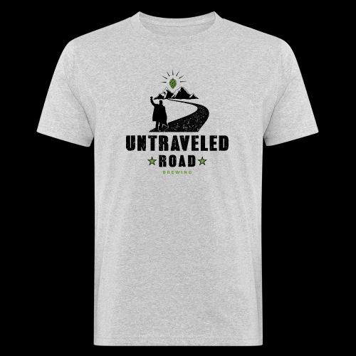 Untraveled Road Logo - black/small - Männer Bio-T-Shirt