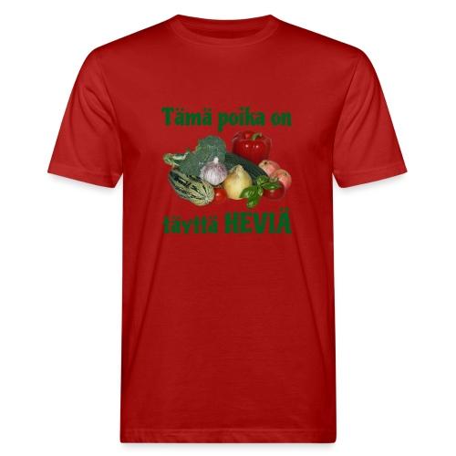 Poika täyttä heviä - Miesten luonnonmukainen t-paita