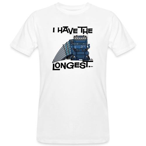 0780 S Truck I have the longest loads (FRONT+BACK) - Mannen Bio-T-shirt