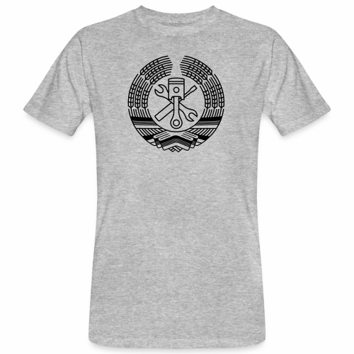 DDR Tuning Coat of Arms 1c (+ Your Text) - Men's Organic T-Shirt