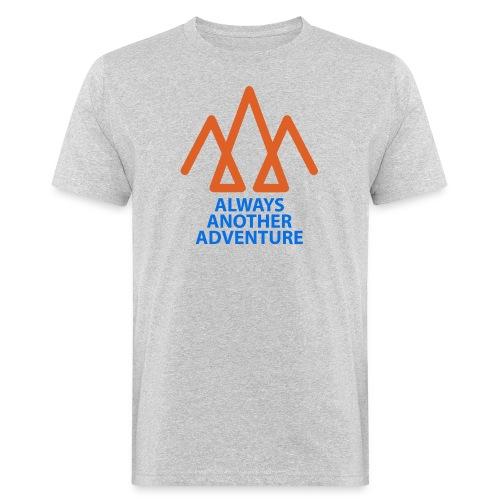 Orange logo, blue text - Men's Organic T-Shirt