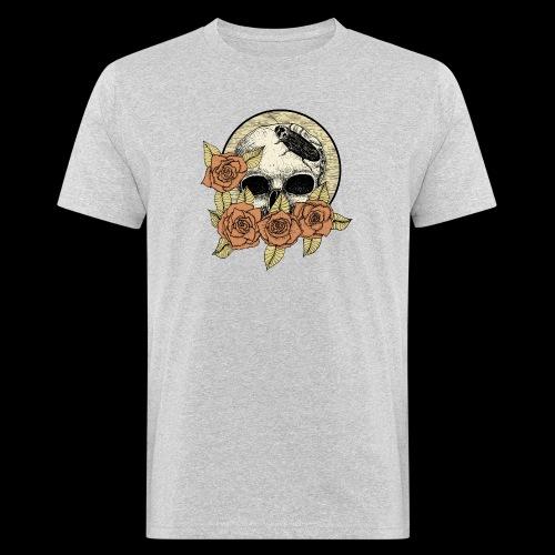 Rose et tête de mort - T-shirt bio Homme