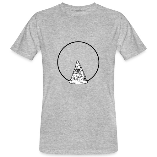 All sehendes Auge Pizza (schwarzer Druck) - Männer Bio-T-Shirt