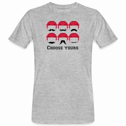 novembre et moustache - T-shirt bio Homme