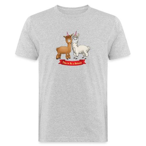 Time to Be a Unicorn 12x14 CMYK - Männer Bio-T-Shirt