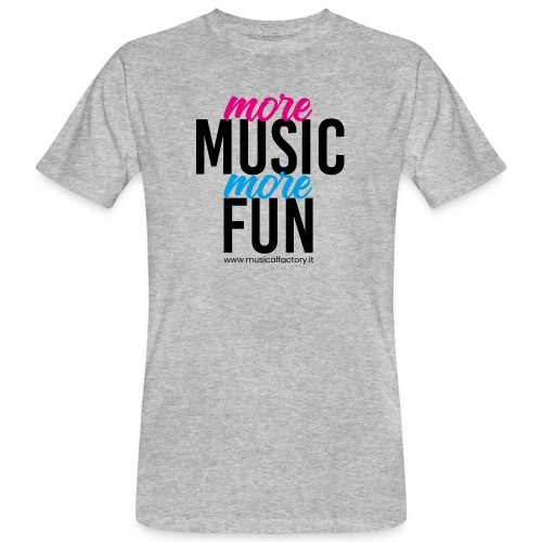 More Music More Fun - T-shirt ecologica da uomo