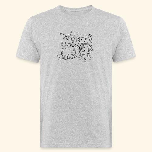 Schaf - Miss you schwarz - Männer Bio-T-Shirt