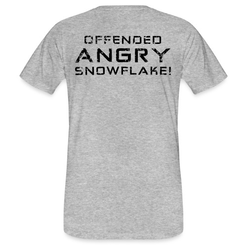 Black Negant logo + OFFENDED ANGRY SNOWFLAKE! - Organic mænd