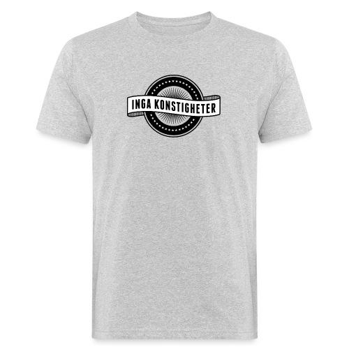 Inga Konstigheters klassiska logga (ljus) - Ekologisk T-shirt herr