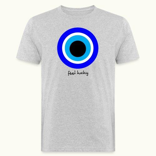 luck eye - Mannen Bio-T-shirt
