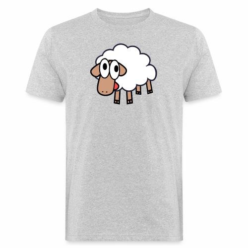 Sheep Cartoon - Mannen Bio-T-shirt
