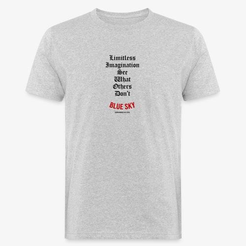 Limitless Imagination Zwart - Mannen Bio-T-shirt