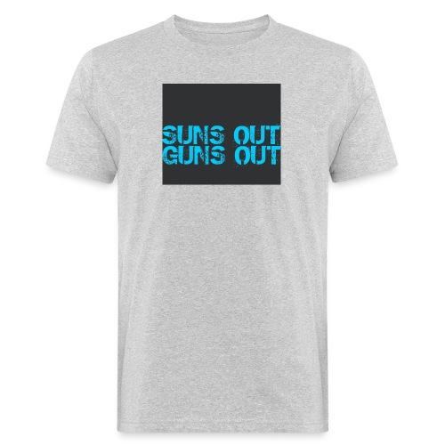 Felpa suns out guns out - T-shirt ecologica da uomo