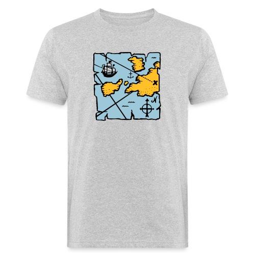 Pirate treasure map - T-shirt bio Homme