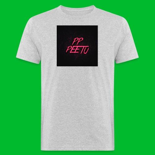 Ppppeetu logo - Miesten luonnonmukainen t-paita
