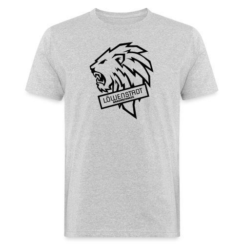Löwenstadt Design 9 schwarz - Männer Bio-T-Shirt