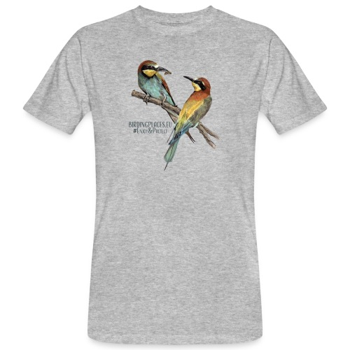 Bee-eater Birdingplaces - Men's Organic T-Shirt