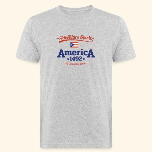 Adventure Spirit America 1492 - Männer Bio-T-Shirt