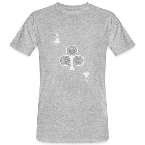 Ace of clubs -gray version- The skulls players - T-shirt bio Homme