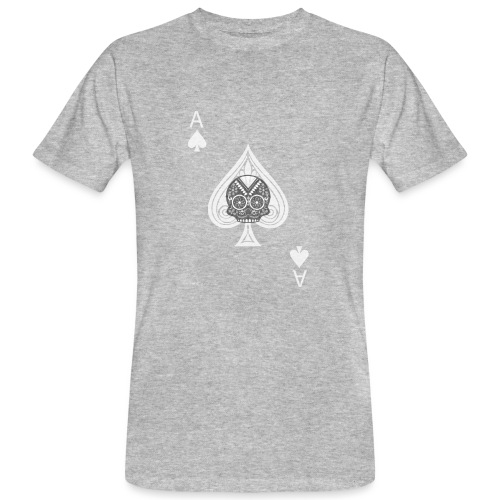 Ace of spades -gray version- The Skulls Players - T-shirt bio Homme