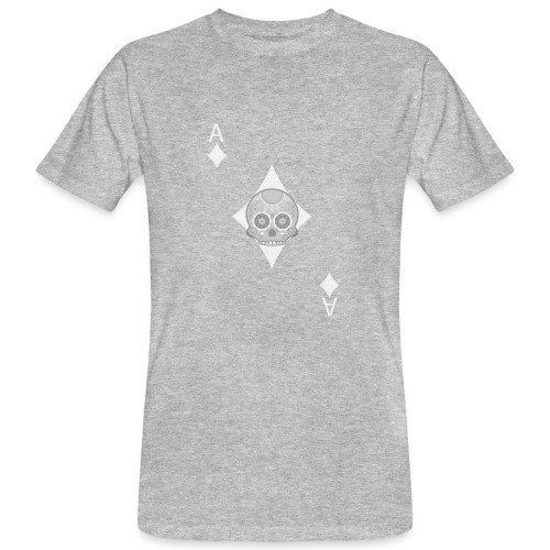 Ace of diamonds -gray version- The Skulls Players - T-shirt bio Homme