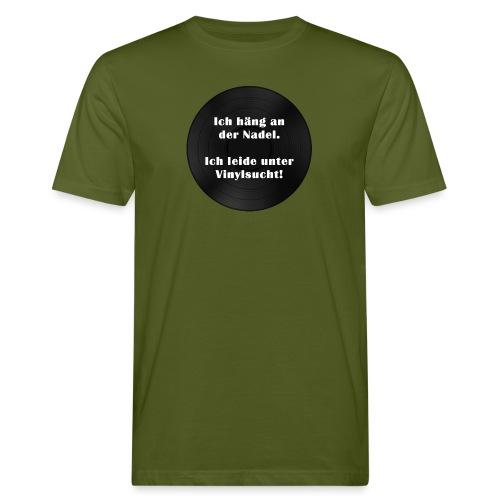 Plattensucht - Männer Bio-T-Shirt