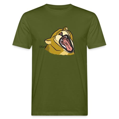 Gähnender / brüllender Löwe - Männer Bio-T-Shirt
