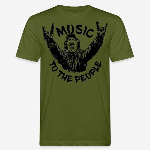 music to the people - Männer Bio-T-Shirt
