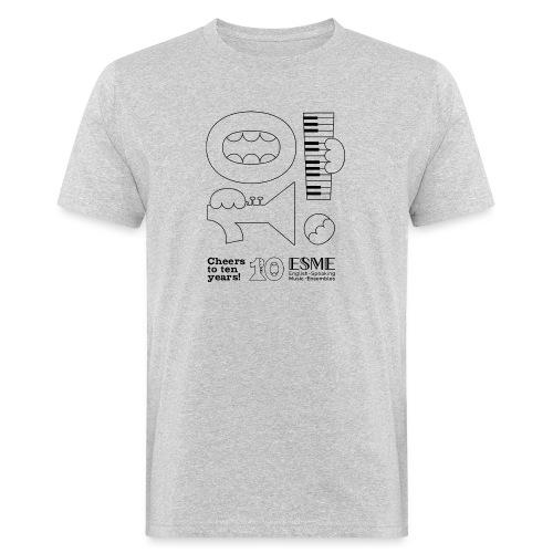 ESME Anniversary Simple Design Schwartz - Männer Bio-T-Shirt