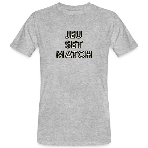JEU SET MATCH WHITE png - Men's Organic T-Shirt