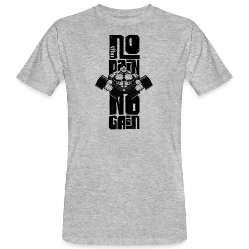No Pain Logo Black (Stencil Version) - Camiseta ecológica hombre