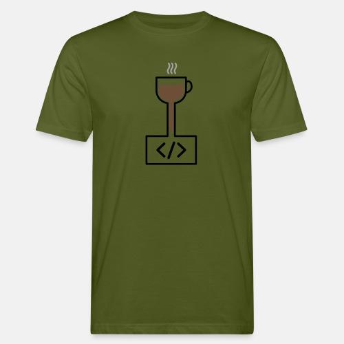 Coffee to Code - Programming T-Shirt - Men's Organic T-Shirt
