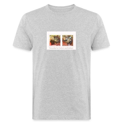 Design Himmlische Saiten aufziehen - Geige spielen - Männer Bio-T-Shirt