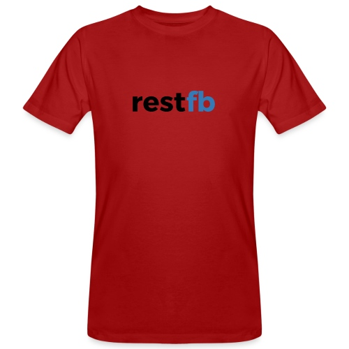 RestFB logo black - Men's Organic T-Shirt