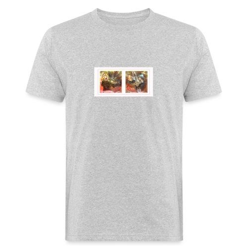 Design Himmlische Saiten - Geige spielen lernen - Männer Bio-T-Shirt